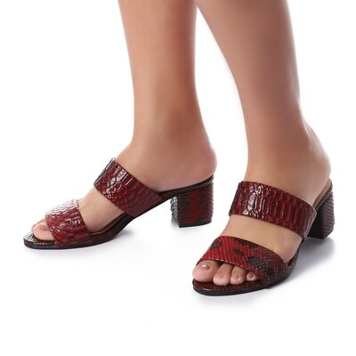 3439 Slipper Red Leather