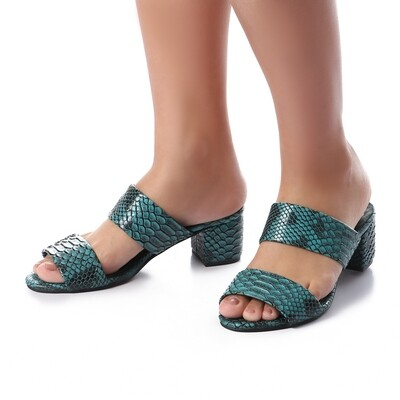 3439 Slipper Blue Sky Leather