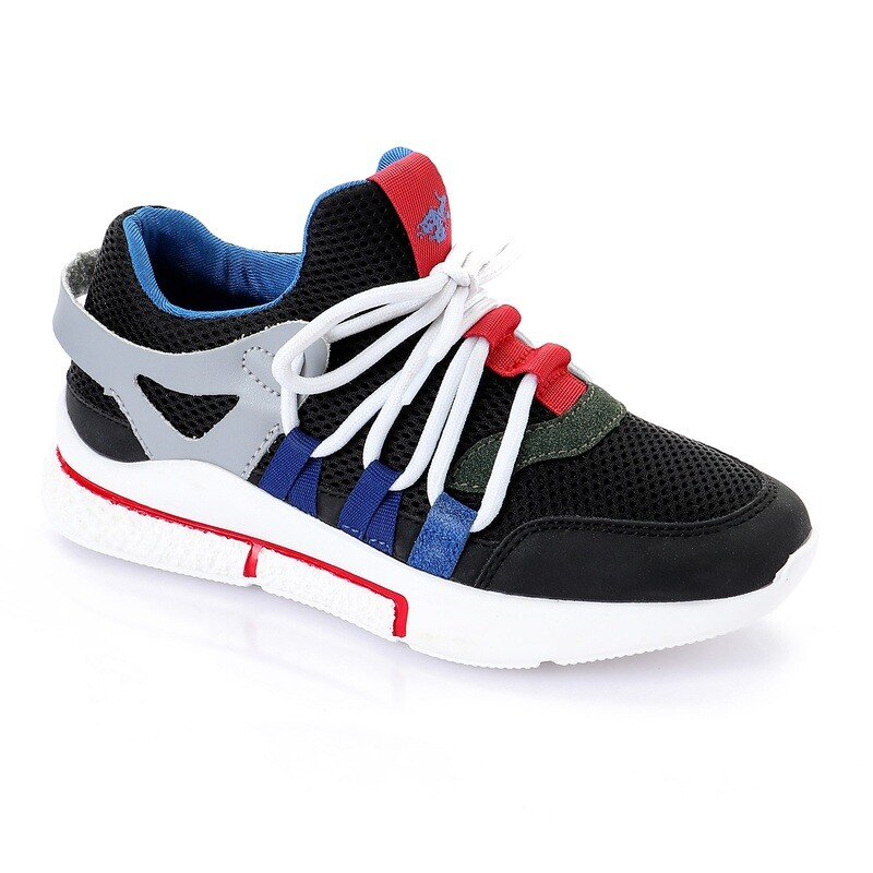 3445 Casual Shoes Kids - black*red