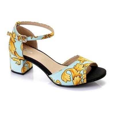 3346 Sandal -light blue*gold