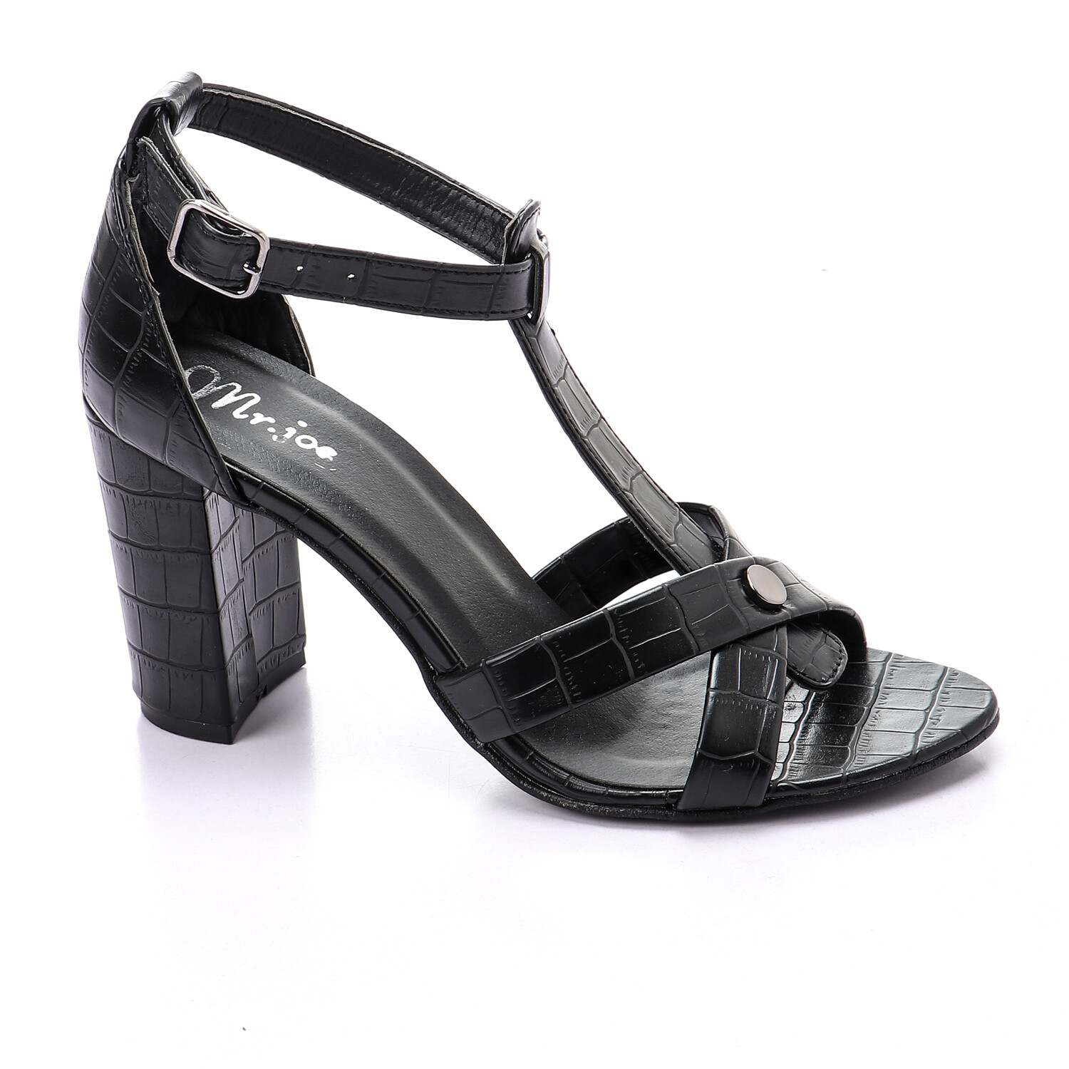 3440 Sandal - Black crocodie