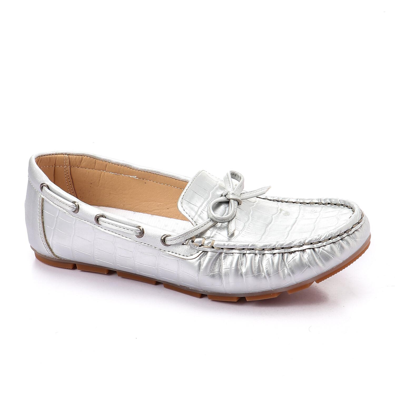 3457 Ballet Flat Shoes - Silver