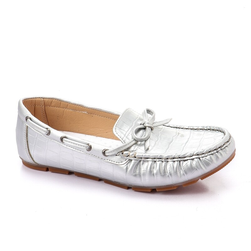 3457 Ballet Flat Shoes - Silver