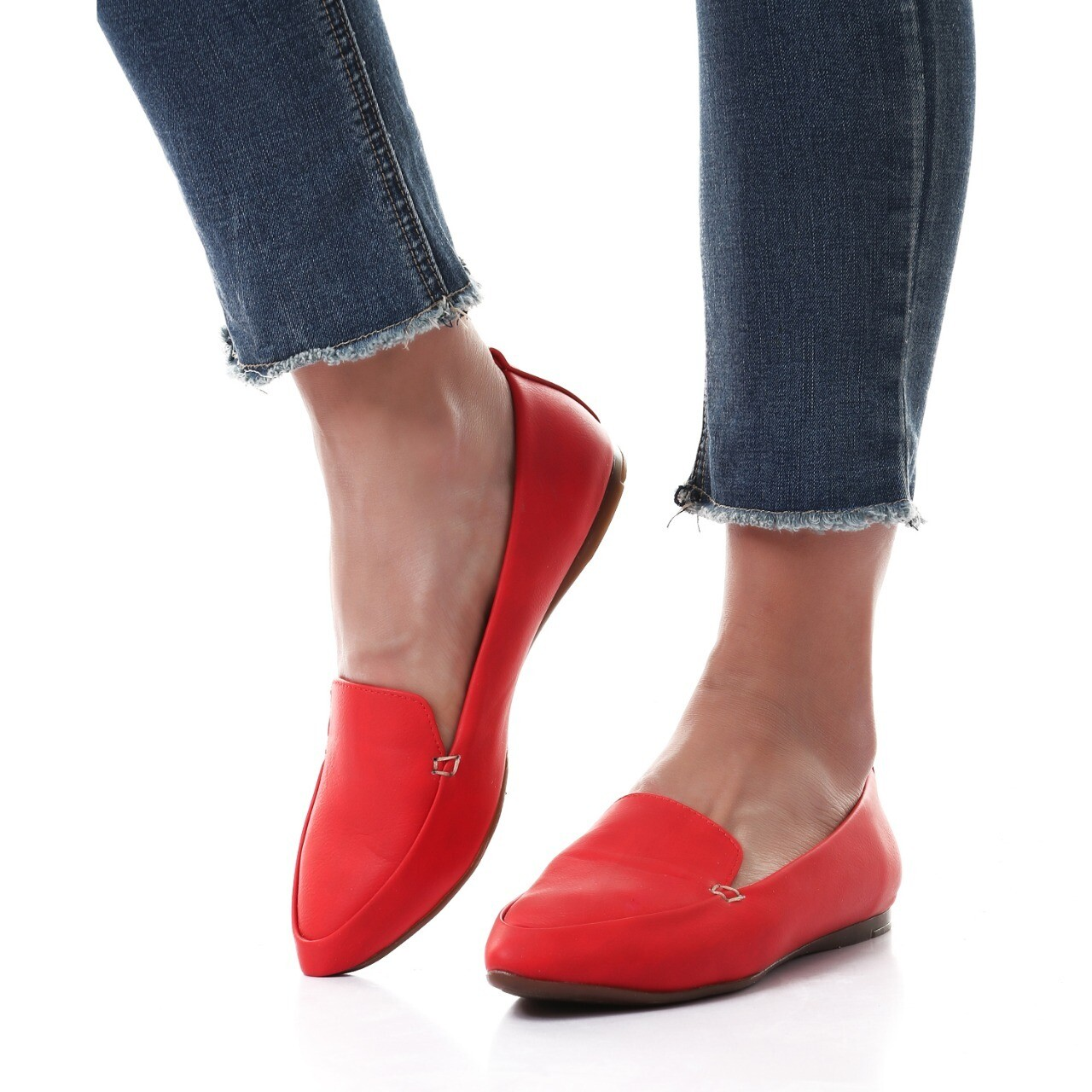 3464 Ballet Flat Shoes - red