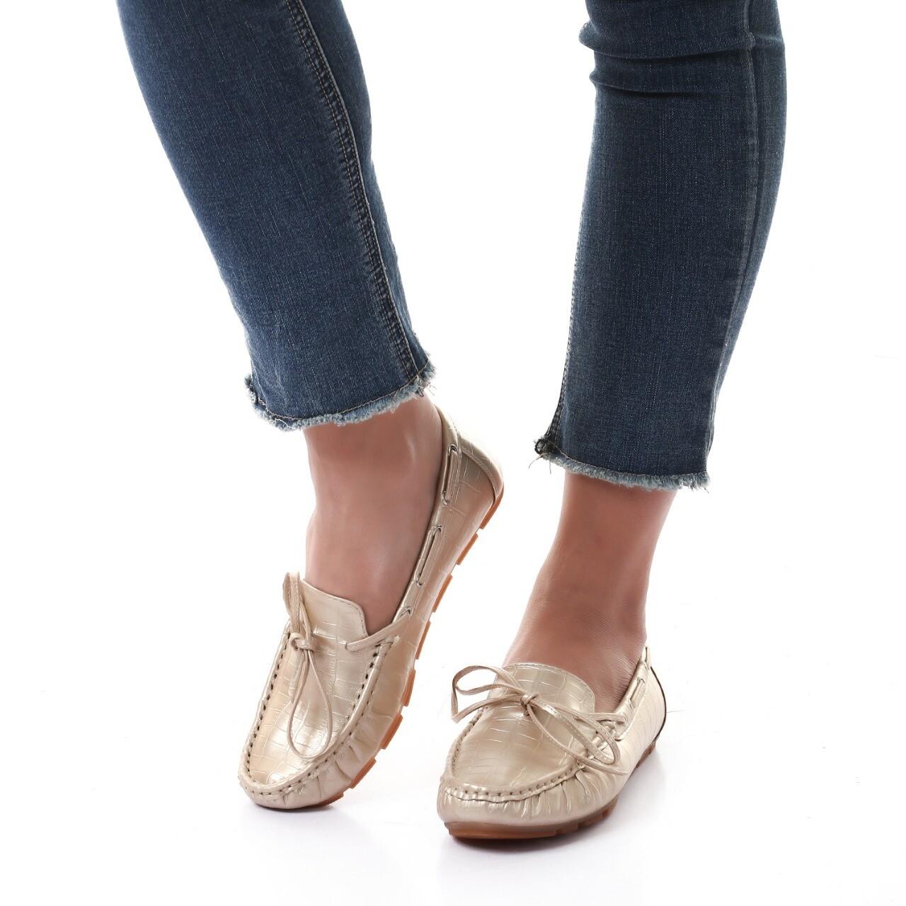 3457 Ballet Flat Shoes - gold