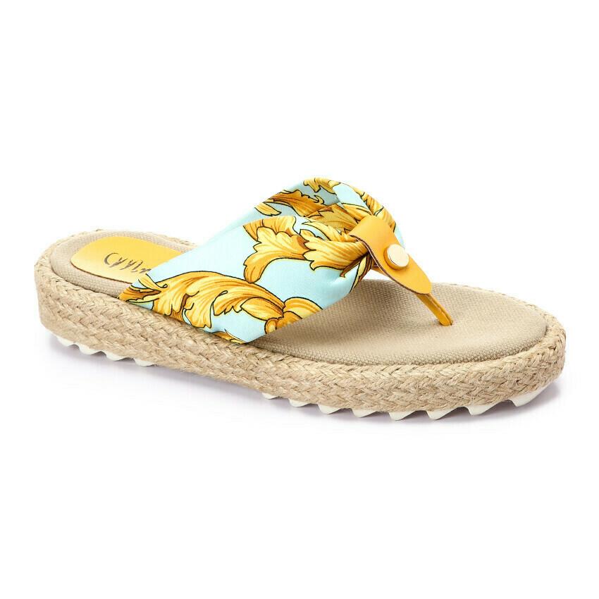 3371 Medical Slipper - Light Blue*Gold