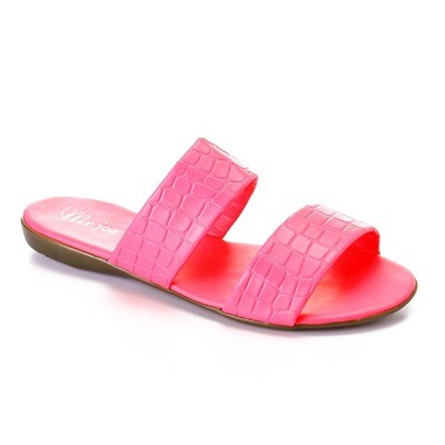 3470 Slipper fuchsia Crocodile