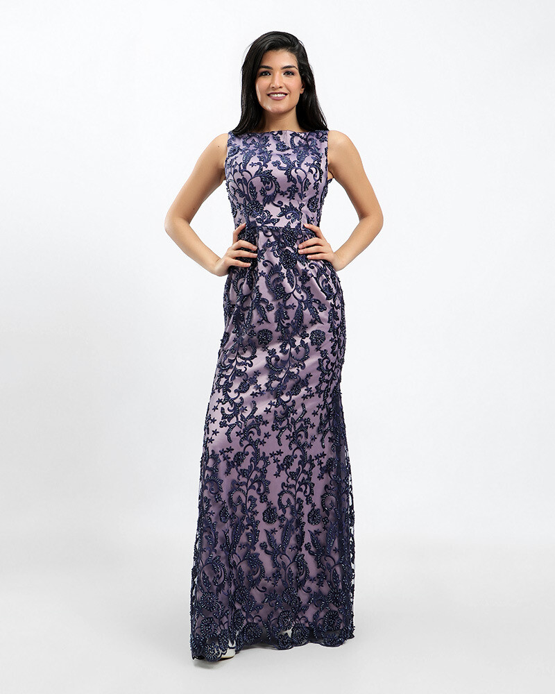 8409  Soiree Dress -Navy