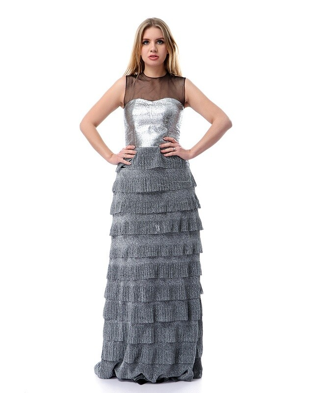 8504 - Soiree Dress - silver