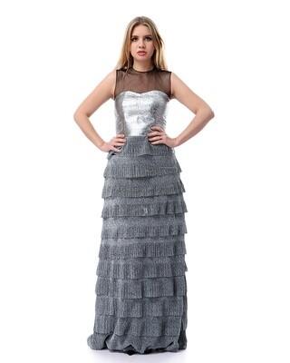 8504 - Soiree Dress - silver