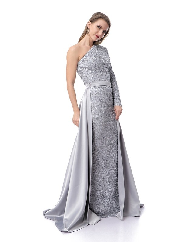 8453 - Soiree Dress -gray