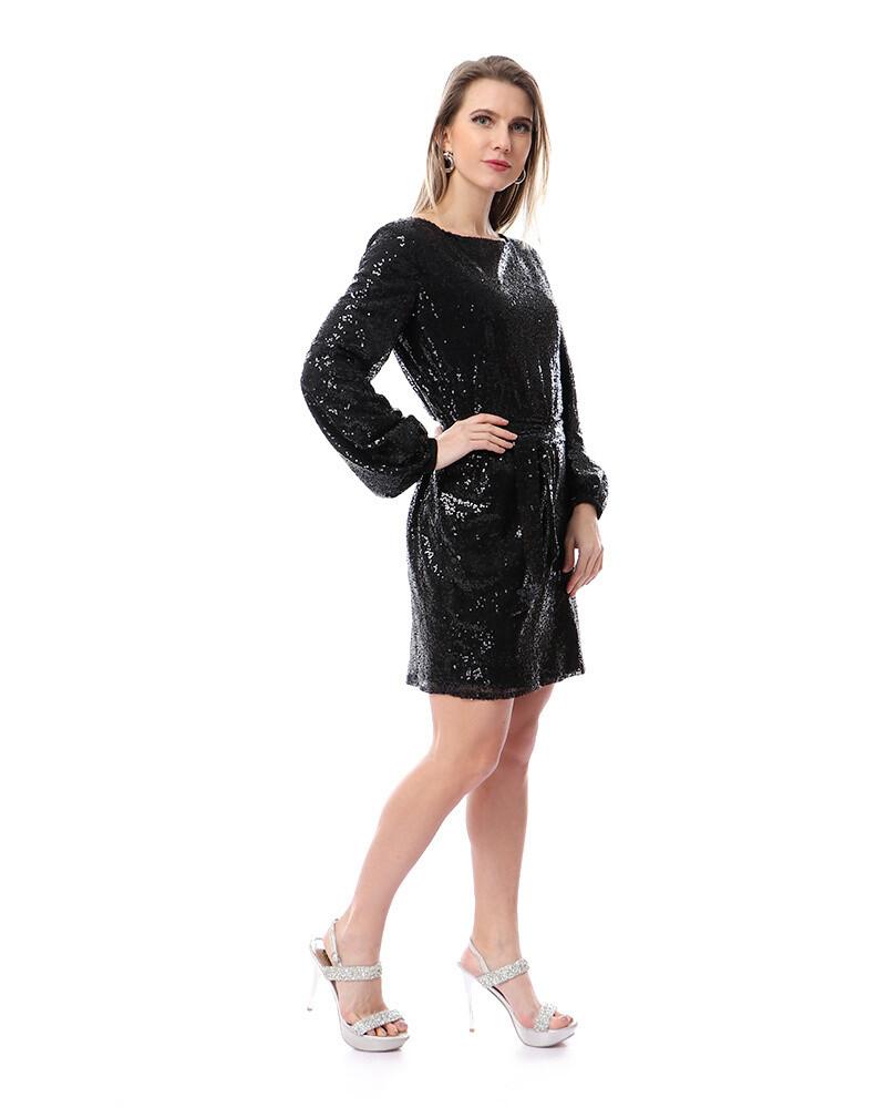 8492 Soiree Dress - black