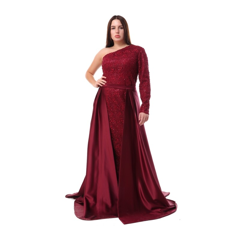 8453 - Soiree Dress -Burgundy