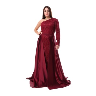 8453 - Soiree Dress -Burgundy