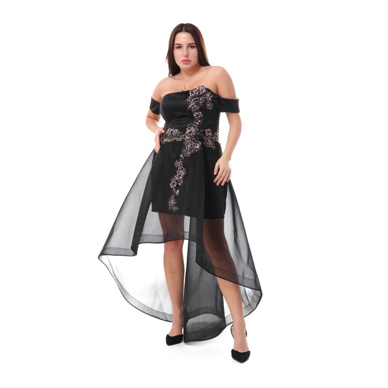 8461 Soiree Dress - black