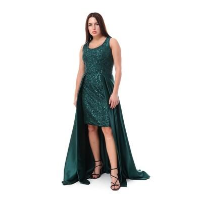 8472 Soiree Dress - Dark Green