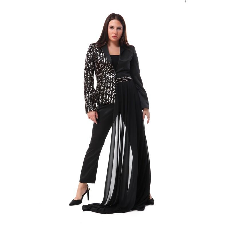 8480 Soiree suit - Black*silver