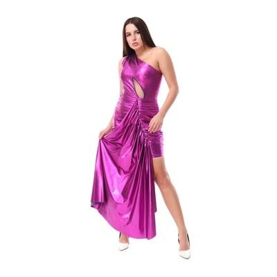 8483 Soiree Dress - fushia