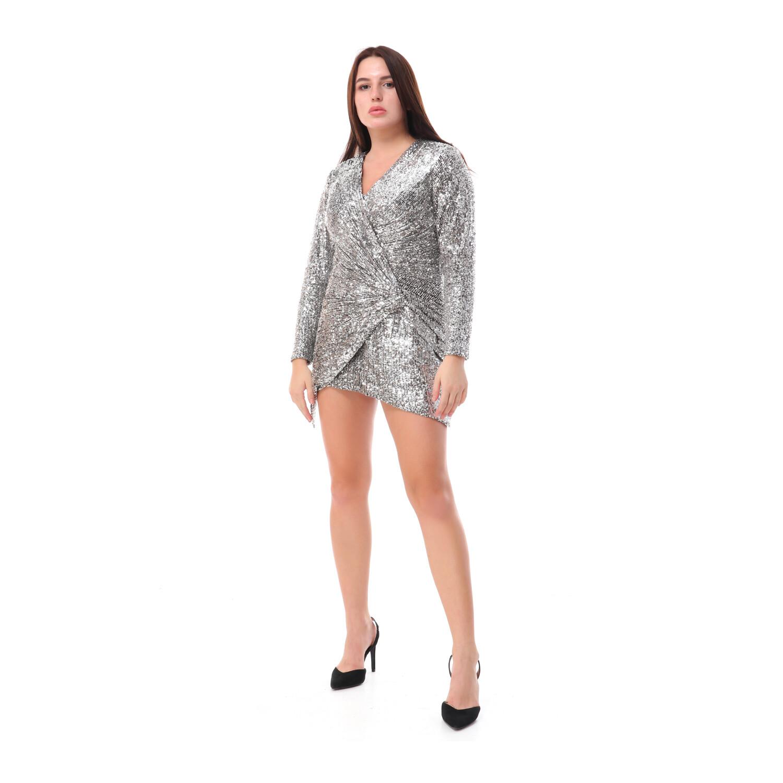 8502 Soiree Dress - Silver
