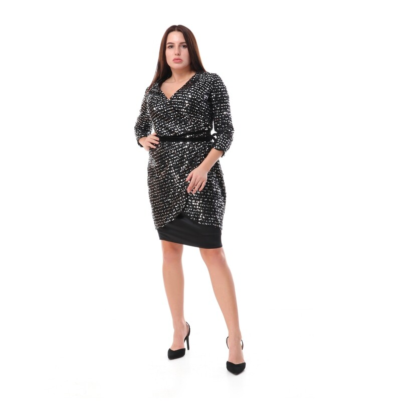 8506 Soiree Dress - black*silver