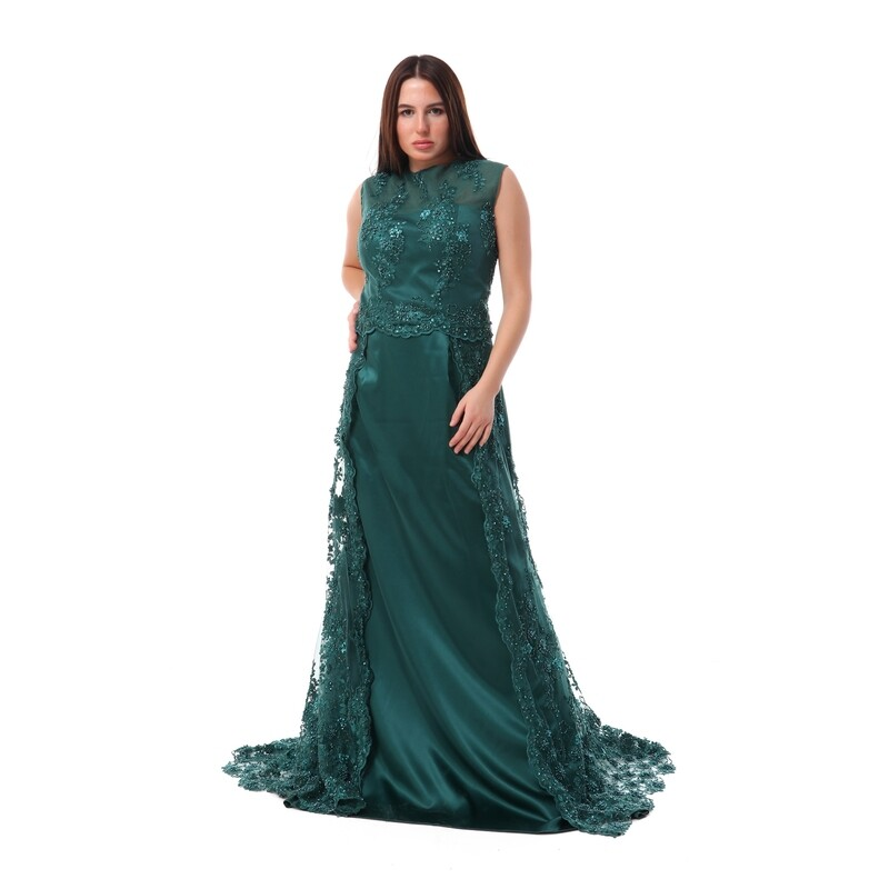 8508 Soiree Dress - Dark Green