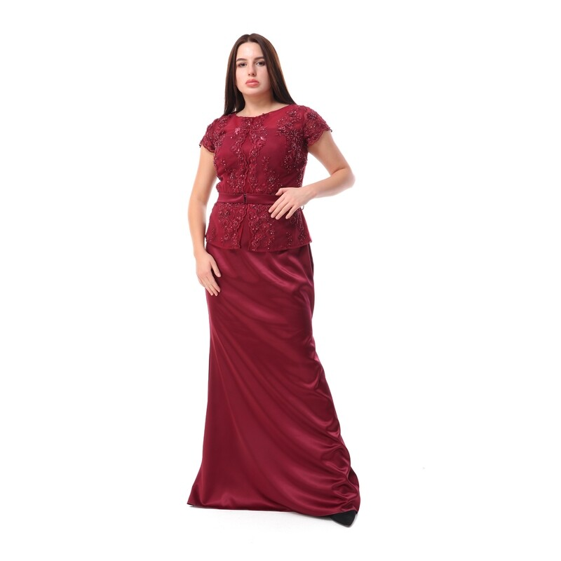 8512 - Soiree Dress -Burgundy