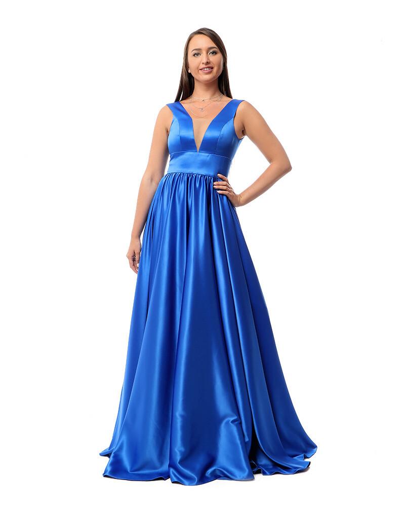 8423Soiree Dress - Blue