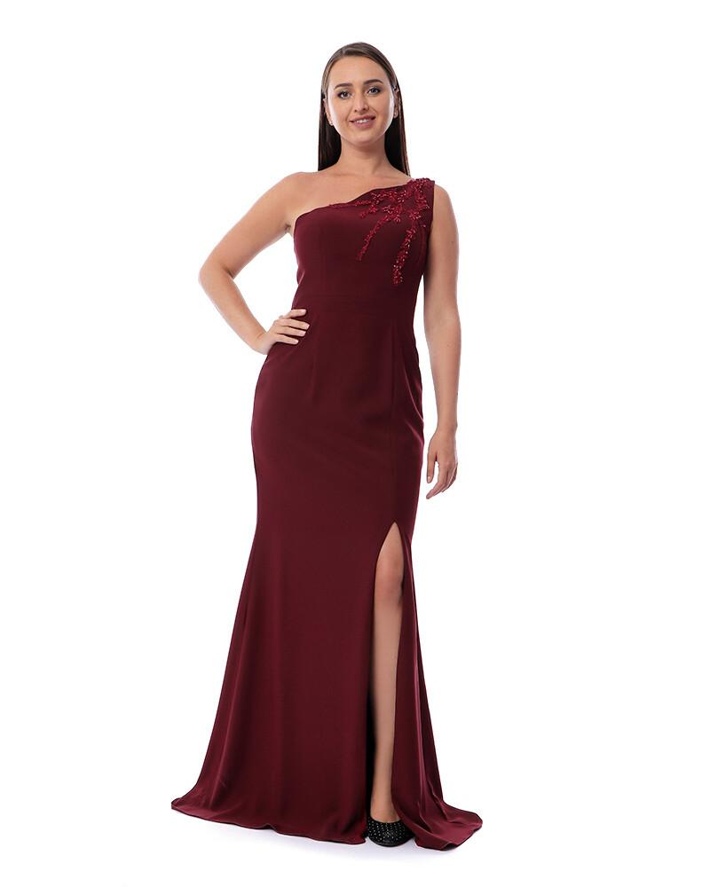 8418 Soiree Dress - Burgundy