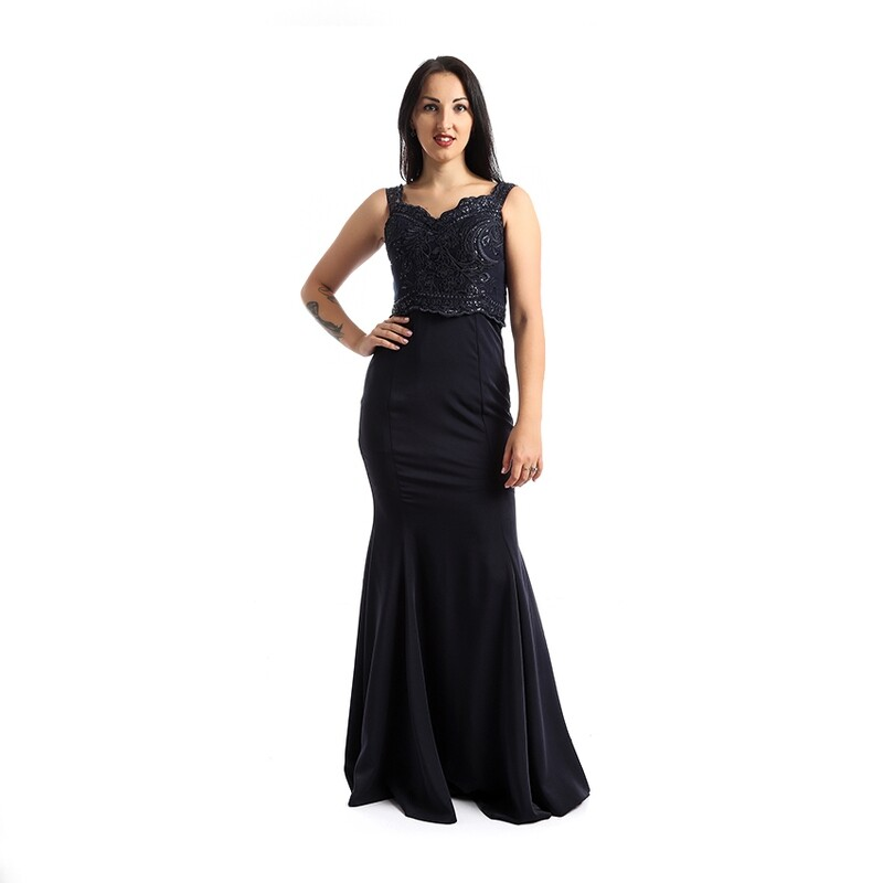 8336 Soiree Dress - Navy