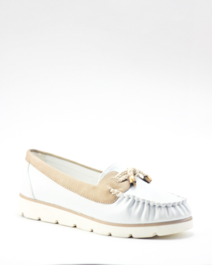 3076 Ballet Flat Shoes - Beig