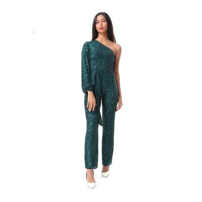 8494 Soiree Jump Suit- Dark Green