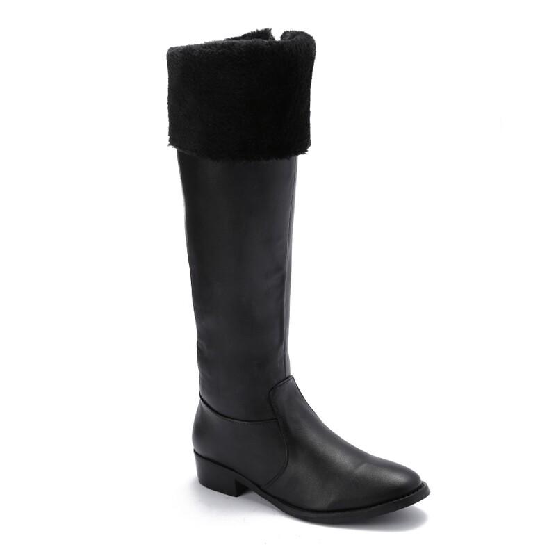 3229 Knee High Boot - Black
