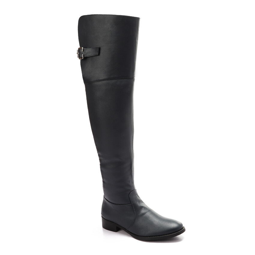 3226 Knee High Boot - Navy