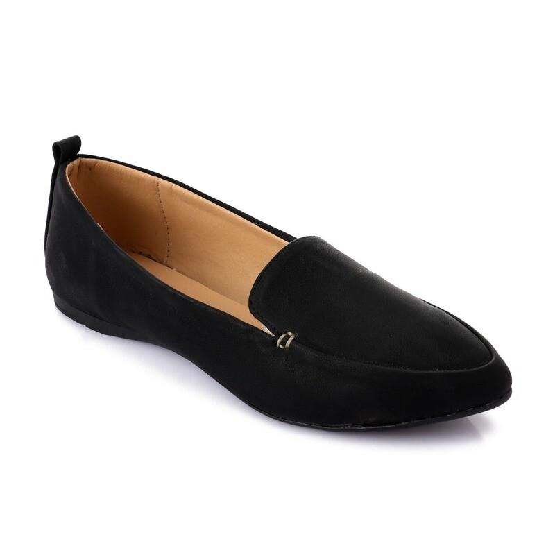 3464 Ballet Flat Shoes - black