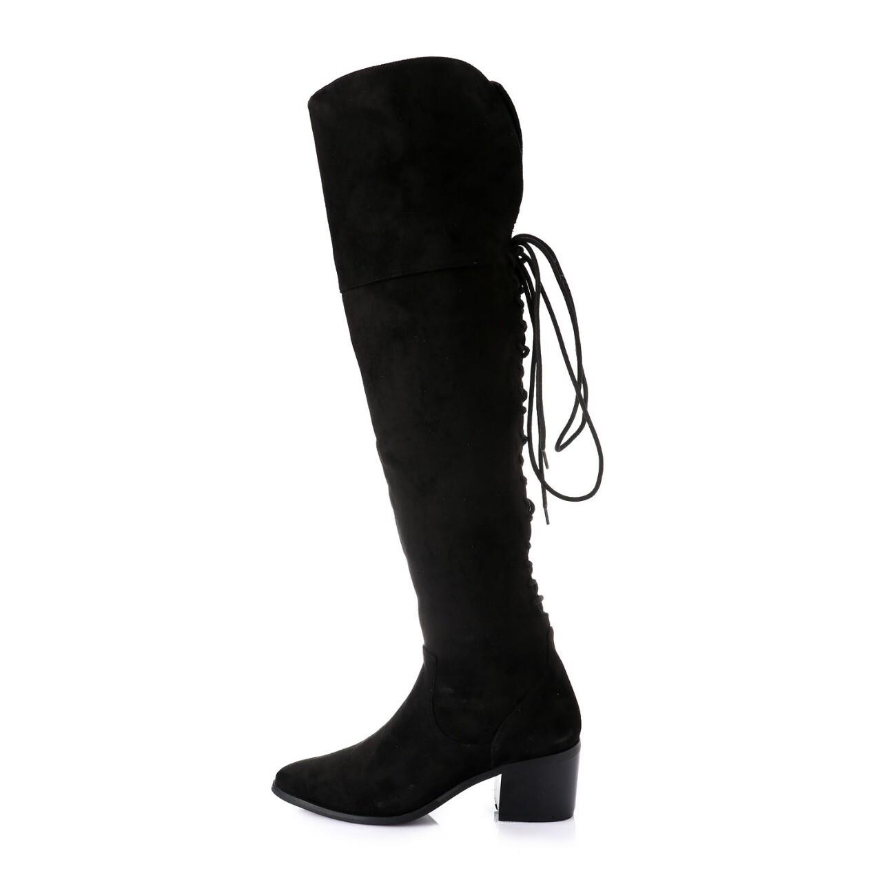 3414 Knee High Boot - Black su