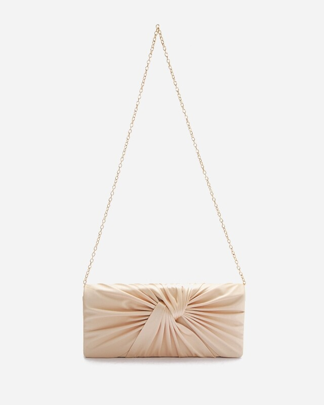 4054 Satin Clutch Bag -gold