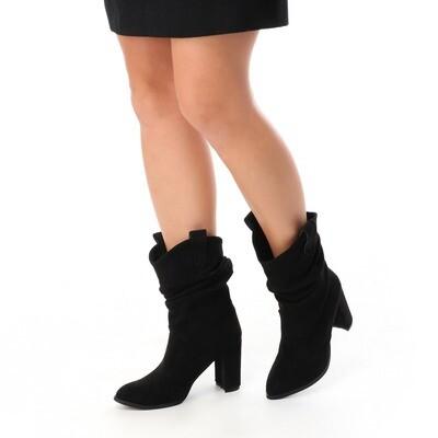 3736 Half Boot - Black SU