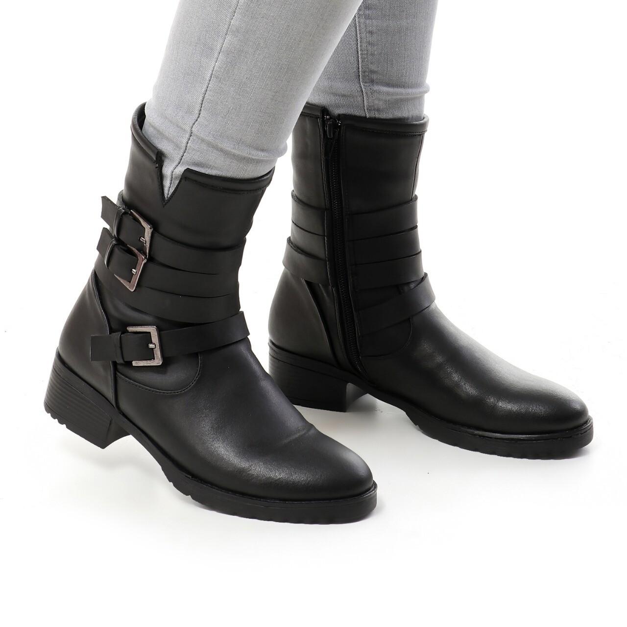 3739 Half Boot - Black