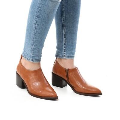 3742 Shoes - Camel Crocodile