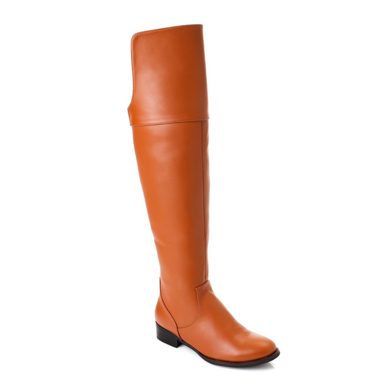 3747 Knee High Boot - Camel