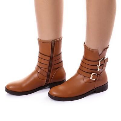 3739 Half Boot - Camel