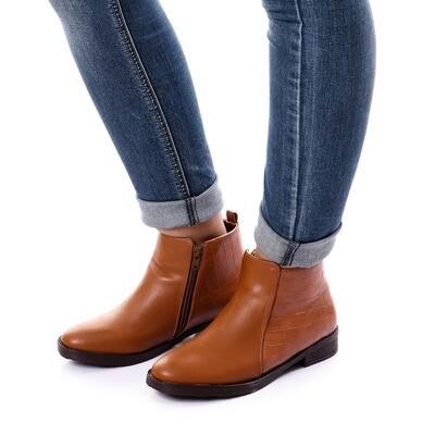 3761 Half Boot - Camel
