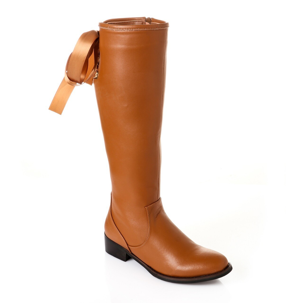 3740- Leather Boot -  Camel