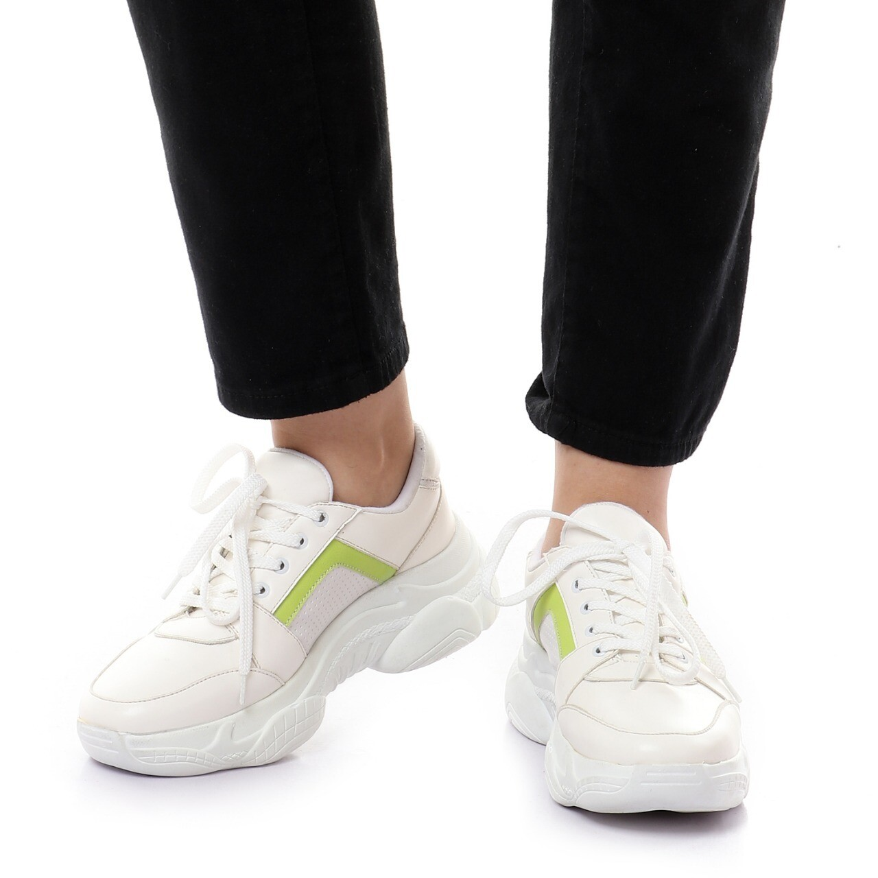 3758 Casual Shoes  - White* green