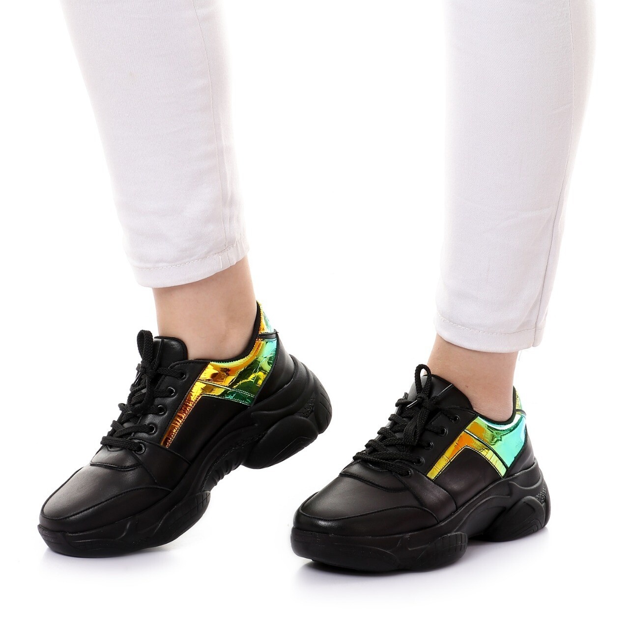 3758 Casual Shoes  -Black