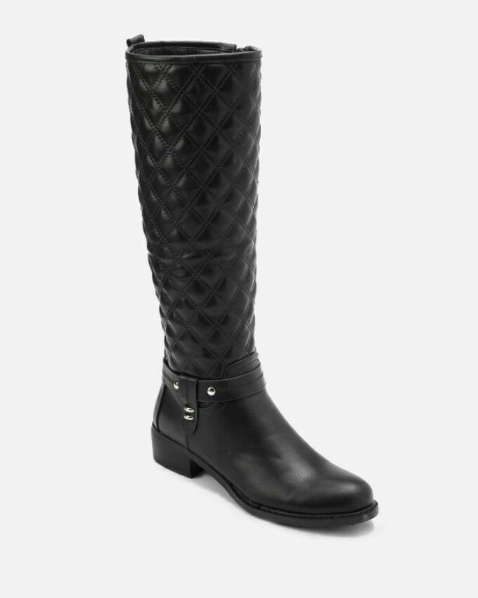 3144- Leather Boot - Black