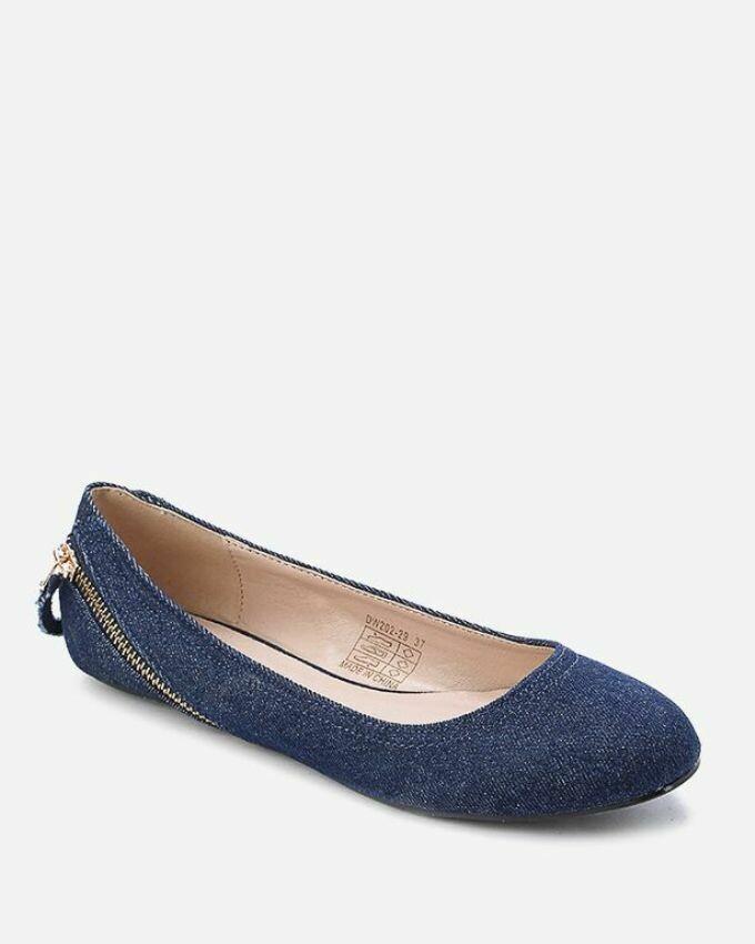 3155 Ballet Flat Shoes - Blue Jeans
