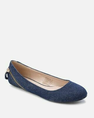 3155 Ballet Flat Shoes - Blue Jeans