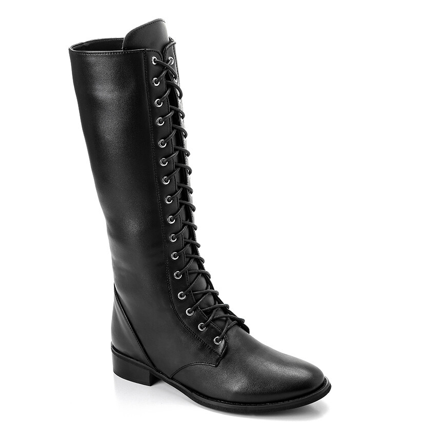 3316- Leather Boot - Black