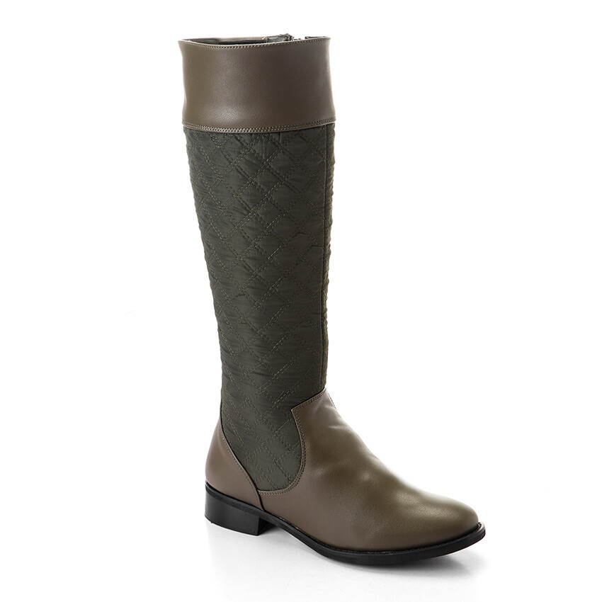 3317- Leather Boot - Dark Green